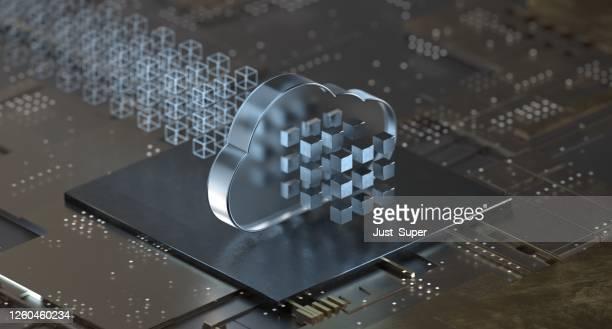 tecnologia di cloud computing - cloud computing foto e immagini stock