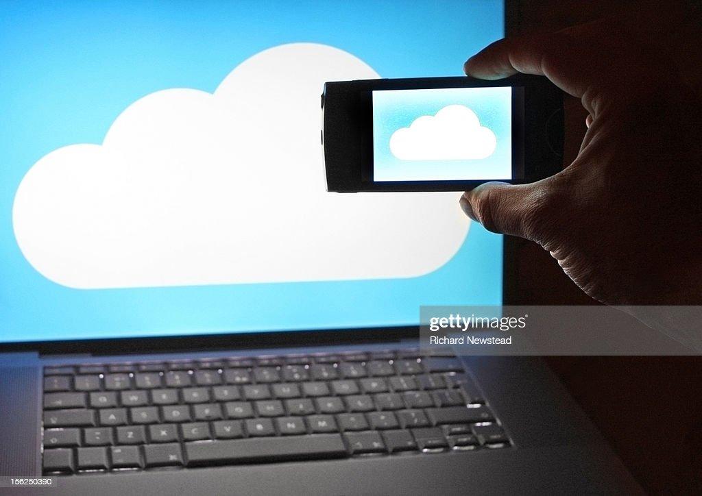 Cloud Data Upload : Stock Photo