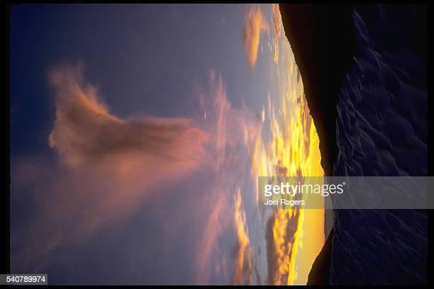 A cloud floats over a mountain in the Cascades Washington USA