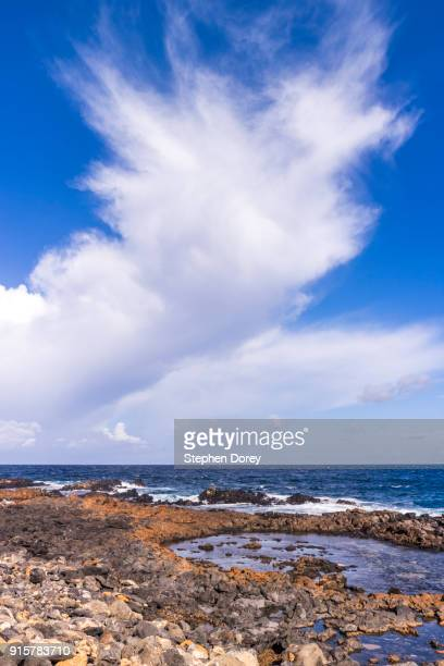 A cloud formation over the Atlantic Ocean on the Canary Island of Fuerteventura.