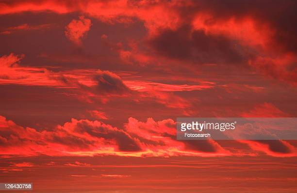 cloud formations in the sky over lake of the woods, ontario, canada - kenora stock pictures, royalty-free photos & images