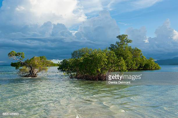 Cloud formations over Marovo Lagoon, Solomon Islands