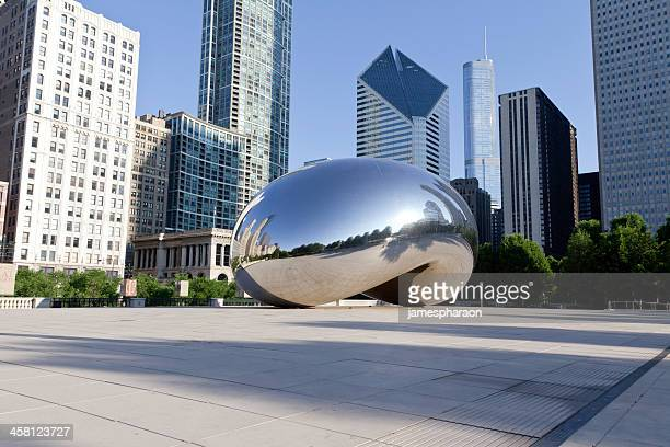 Cloud Gate Bean with Skyline Morning - horizontal