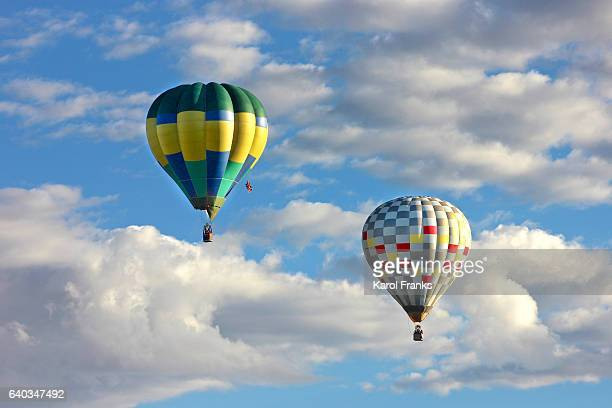 cloud hopping hot air balloons