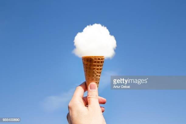 cloud ice cream. - eis stock-fotos und bilder