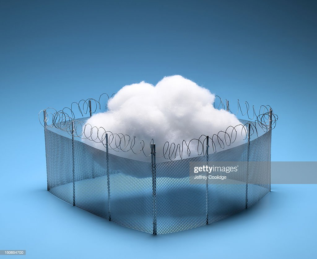 Cloud In Fence : Stock Photo