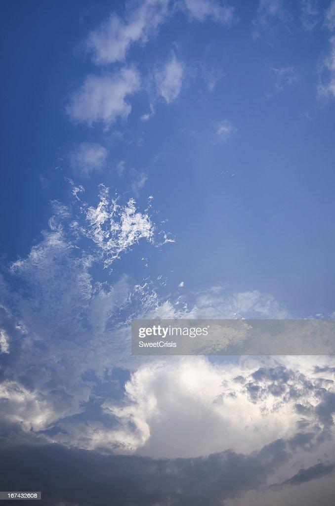 Nuvem céu de Luz : Foto de stock