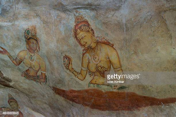 Cloud Maidens, frescoes, Lion Rock Fortres