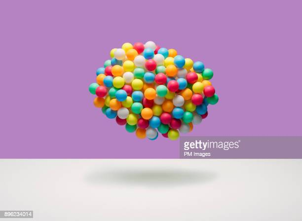 Cloud of multi-colored balls