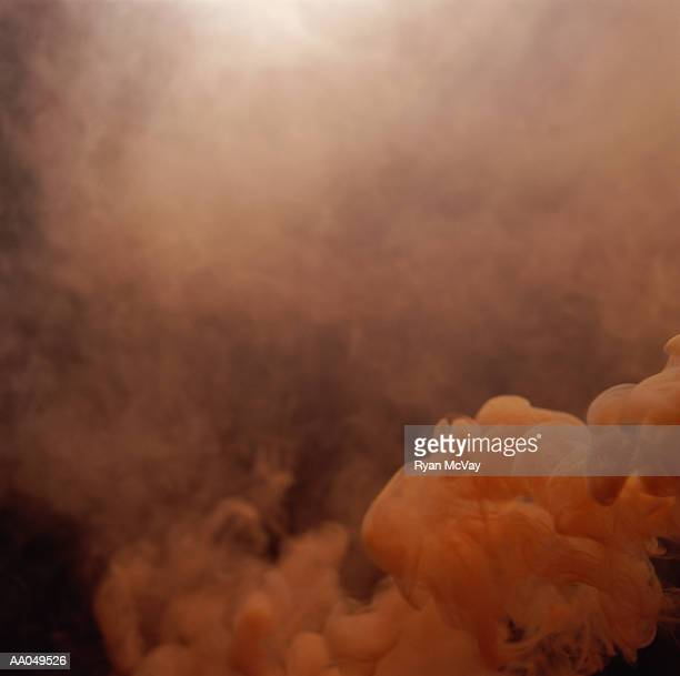 Cloud of orange smoke, full frame
