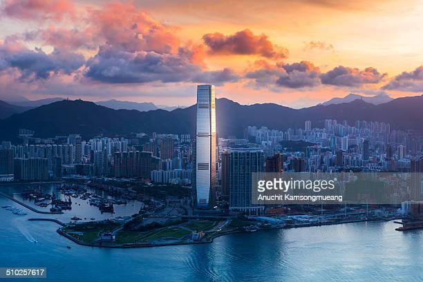 Cloud on sky100 tower kowloon