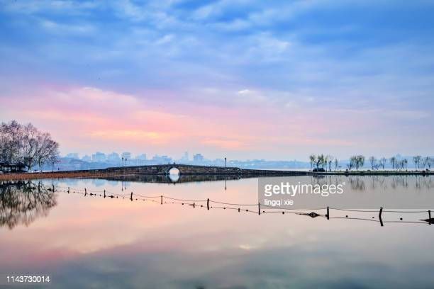 cloud on the white levee of west lake, hangzhou - asian games stock pictures, royalty-free photos & images