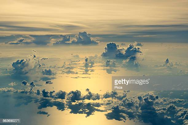 Cloud over sea
