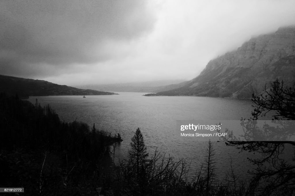 Cloud over the lake : Stock Photo