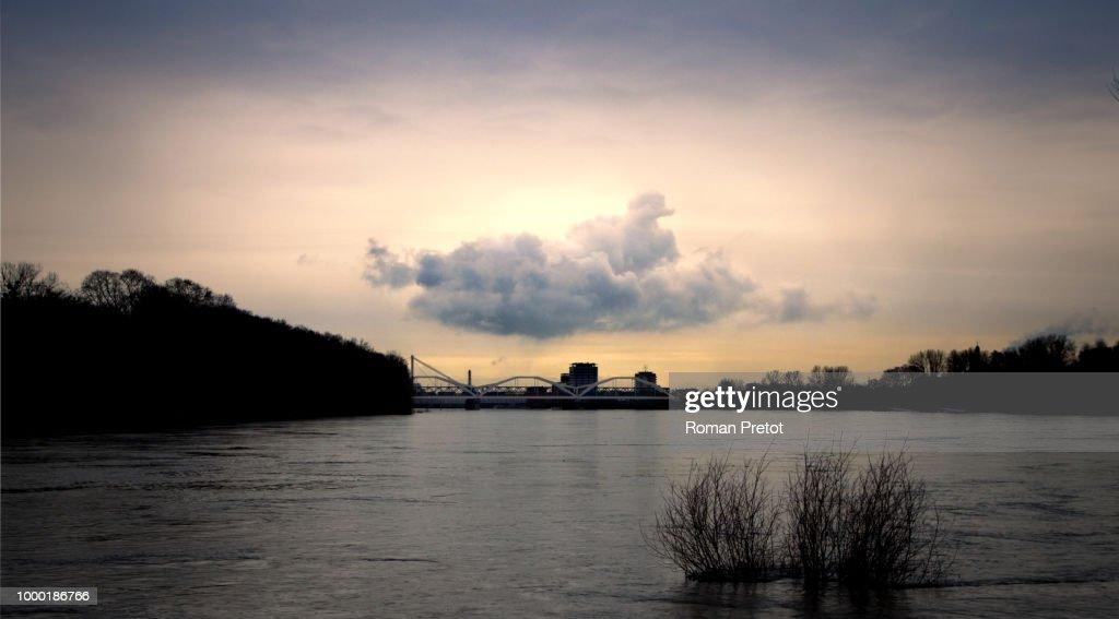Cloud over the Rhein : Stock Photo
