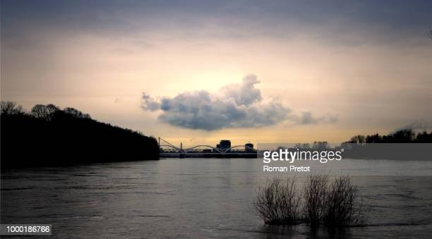 cloud over the rhein - roman pretot stock-fotos und bilder