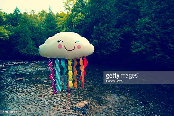 cloud - smiley face stock pictures, royalty-free photos & images