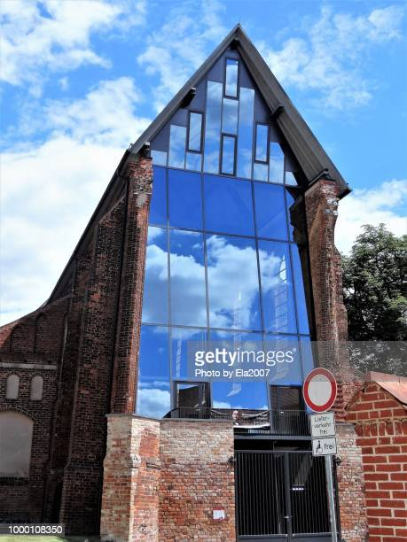 Cloud reflection at the church