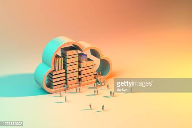 sfondo server cloud - cloud computing foto e immagini stock