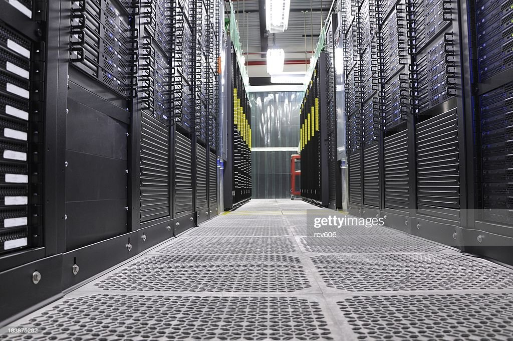 Cloud Servers in the Data Center : Stock Photo