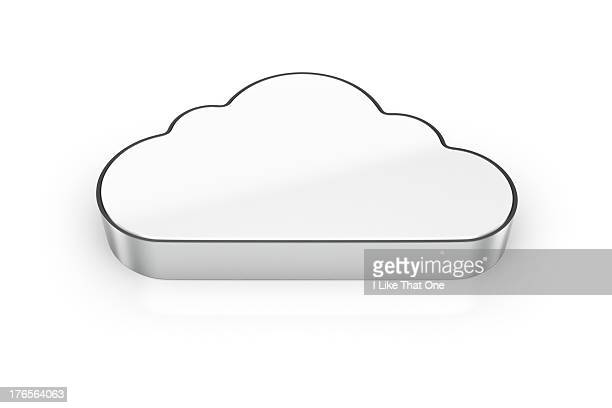 Cloud shaped computer hard drive