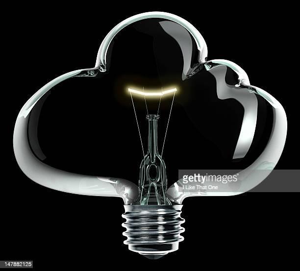 Cloud shaped glass lightbulb
