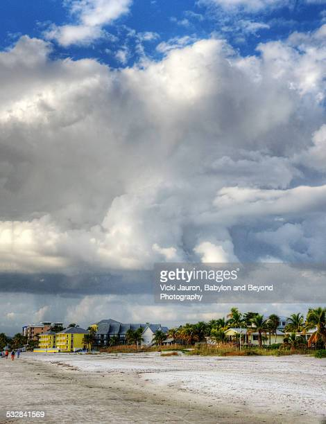 cloud shaped like monster over fort myers beach - fort myers beach stock pictures, royalty-free photos & images