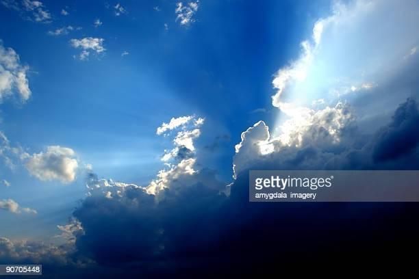 cloud sky sunbeams