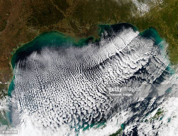 cloud streets in the gulf of mexico. - kap horn stock-fotos und bilder