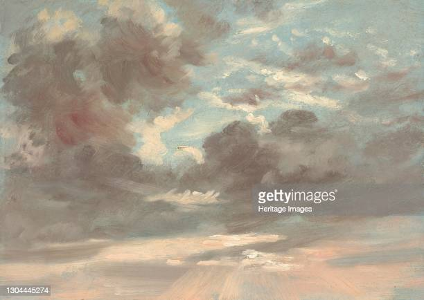 Stormy Sunset, 1821-1822. Artist John Constable.