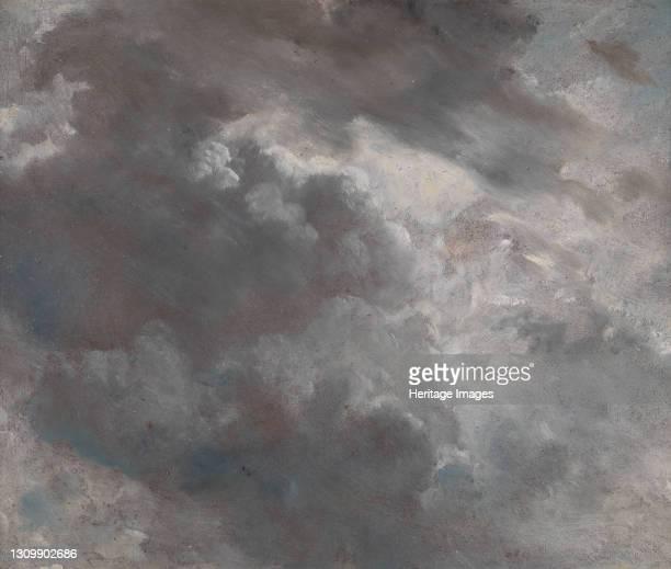 Cloud Study;Dark Cloud Study, 1821. Artist John Constable. .