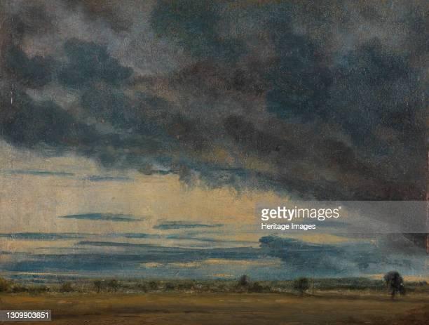 Cloud Study;Evening Landscape After Rain;Landscape with a Grey Windy Sky, ca. 1821. Artist John Constable. .