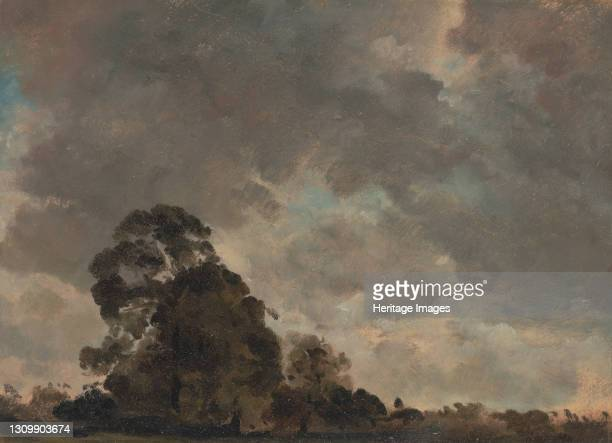 Cloud Study;Landscape at Hampstead, Trees and Storm Clouds;Clouds over a Landscape with a tall Tree;Landscape at Hampstead: Trees and Storm Clouds,...