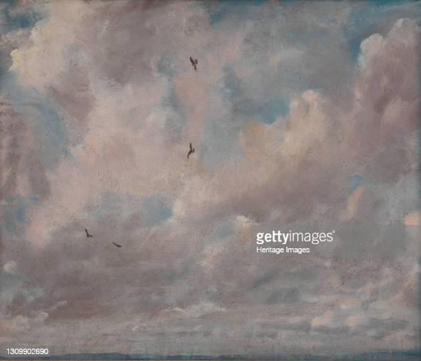 Cloud Study;Stratocumulus Cloud;Stratocululus Clouds, 1821. Artist John Constable. .