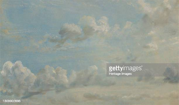 Cloud Study;Study of Cumulus Clouds;Looking Southward;Study of Cumulus Clouds, 1822. Artist John Constable. .
