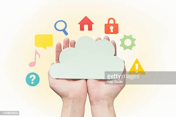 Cloud surrounding the Apps in the palm