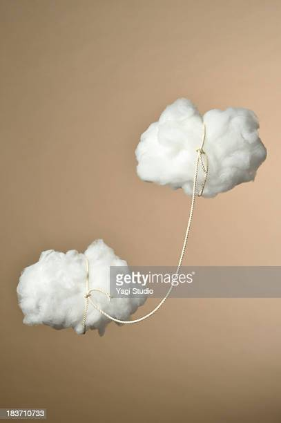 Cloud the two are connecting by rope