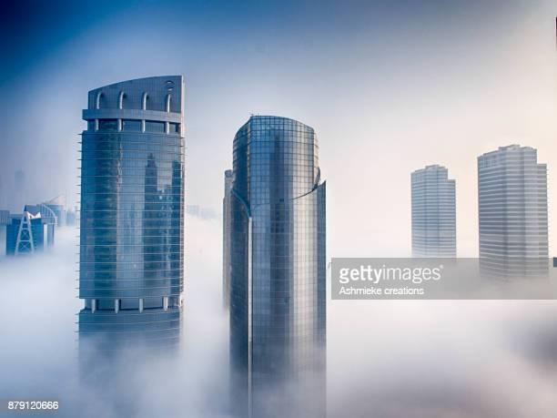 cloud typologies - skyscraper stock pictures, royalty-free photos & images