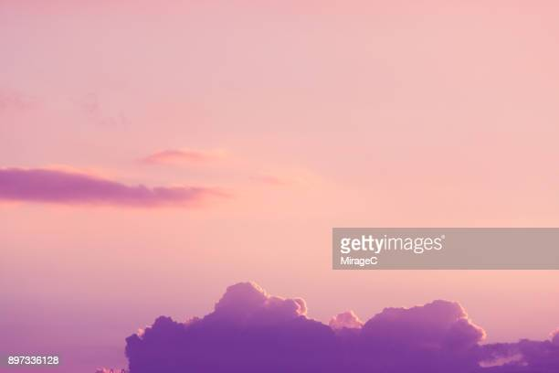 Cloud Typologies: Purple Color Cloud