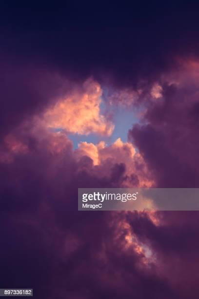Cloud Typologies: Purple Color Cloud