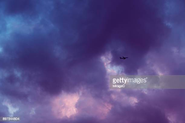 cloud typologies: purple color cloud - purple background stock photos and pictures