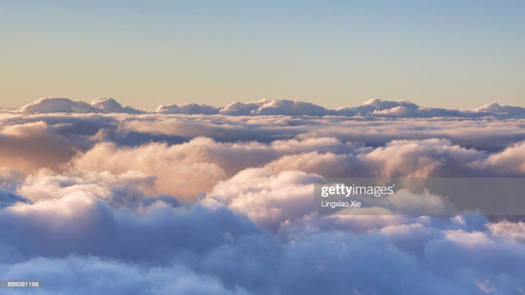 Cloud Typologies - Scenic view above the clouds : Stock-Foto