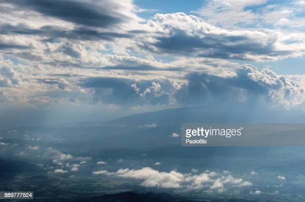 Cloud Typologies - Sky with dramatic clouds, above the Belluno valley, Veneto