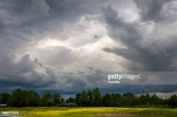 Cloud Typologies - Sky with dramatic storm clouds