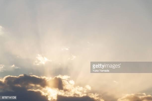 Cloud Typologies - Sun Beam During Sunset