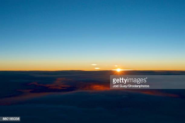 Cloud Typologies sunset above the clouds