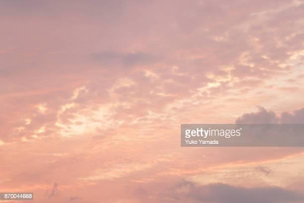 Cloud Typologies - Sunset Sky
