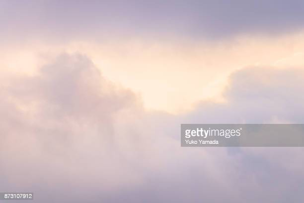 cloud typologies - sunset sky - november background stock photos and pictures