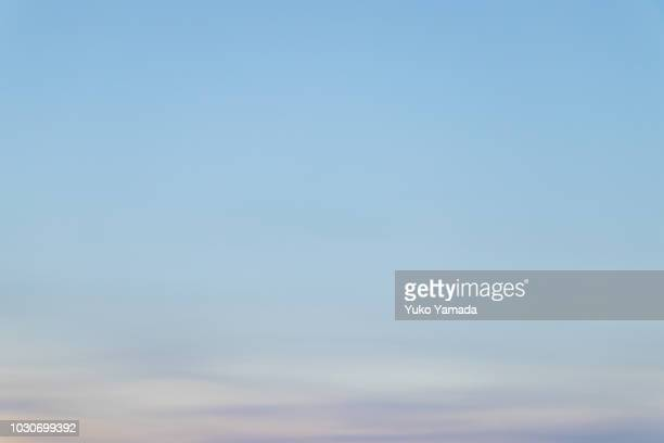 cloud typologies - twilight - sky only stock pictures, royalty-free photos & images