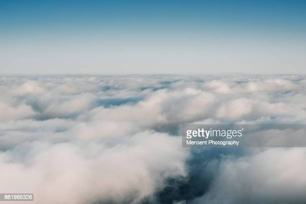 Cloud Typologies, View of clouds from aero plane window
